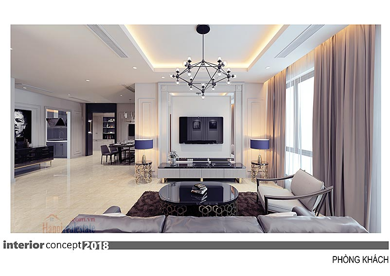 Ciputra: Excellent 03BRs apartment at L4, balcony in the living room 1