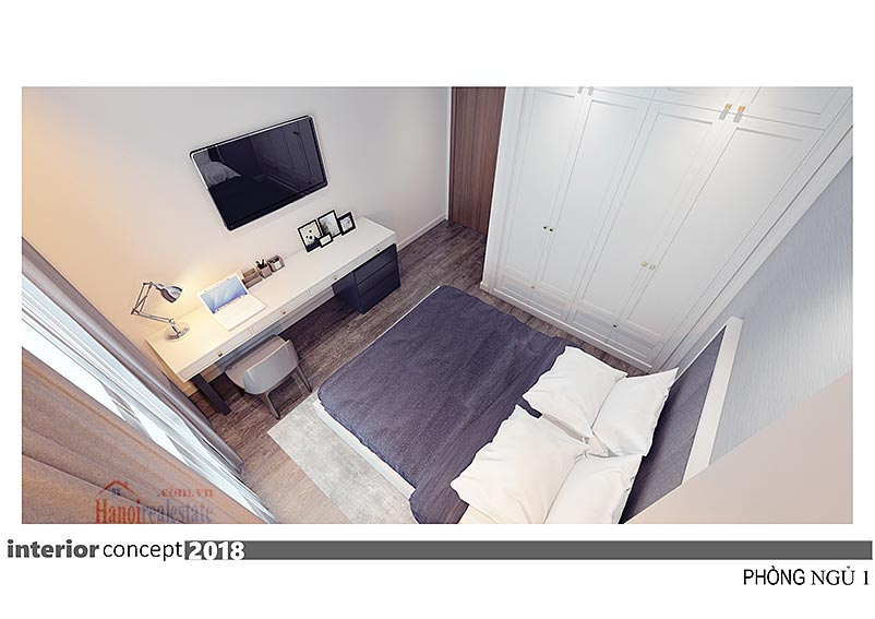 Ciputra: Excellent 03BRs apartment at L4, balcony in the living room 19