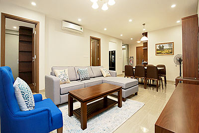 Ciputra: Golf course view 03BRs apartment, brand new and fully furnished at L3 building