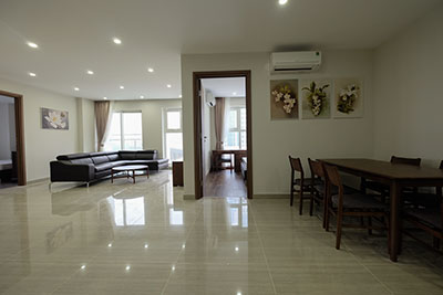 Ciputra: Golf course view 154m2 apartment in L3 building, fully furnished