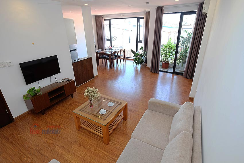 Cozy Furnished Apartment for rent in Linh Lang Street, high floor, elevator 3