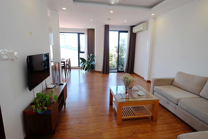 Cozy Furnished Apartment for rent in Linh Lang Street, high floor, elevator 4