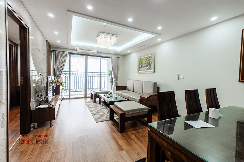 D'. Le Roi Soleil: City view 03BRs serviced apartment on Xuan Dieu Rd, balcony 1
