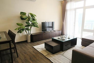 Bright 02BRs serviced apartment for rent at DMC Tower with balcony