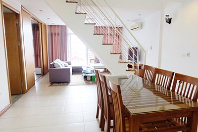 Duplex 02BRs apartment to let in Ba Dinh walking distance to Lotte Tower