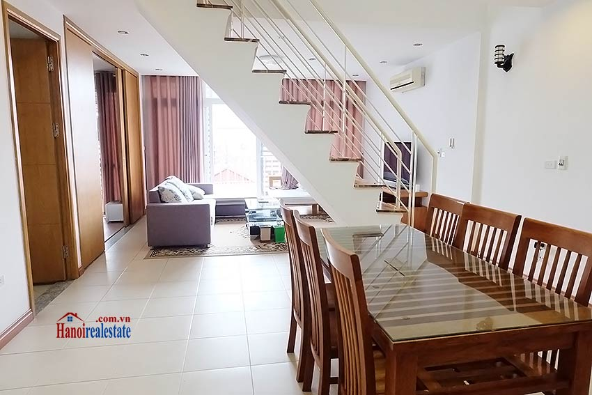 Duplex 02BRs apartment to let in Ba Dinh walking distance to Lotte Tower 1