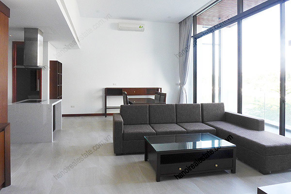 Spacious Lake View Luxury One Bedroom Apartment For Rental In Yen Phu