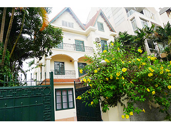 Charming Villa For Rent in Dang Thai Mai Tay Ho, Large Yard, Pool