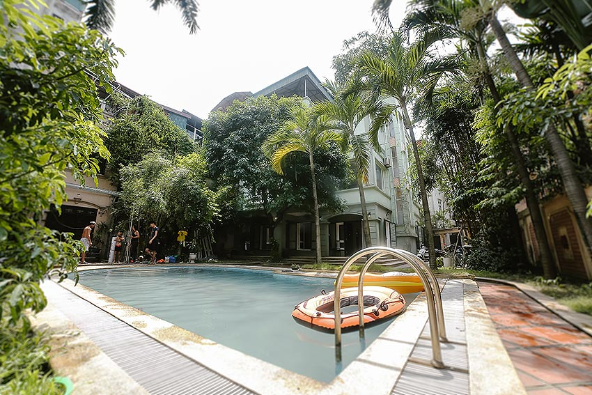 French style swimming pool and garden 06BRs villa in Ba Dinh District 3