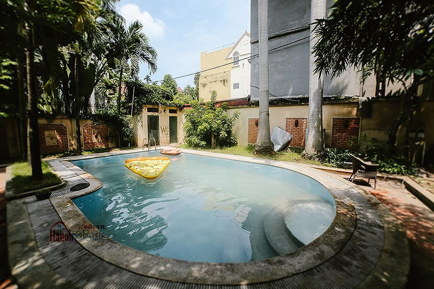 French style swimming pool and garden 06BRs villa in Ba Dinh District 4