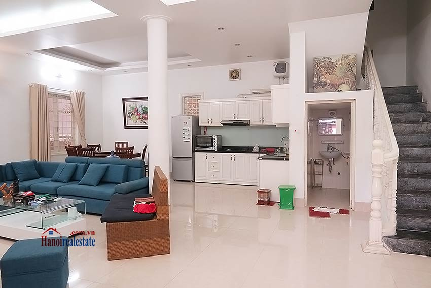 Fully furnished, 04BRs house to rent in Tay Ho, big terrace 3