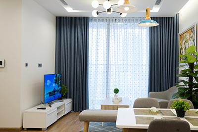 Furnished 02BRs apartment at Vinhomes Metropolis, bright and airy