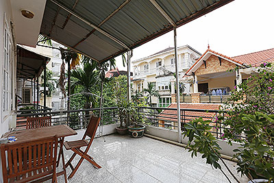 Furnished 3-bedroom house for rent in Tay Ho with lovely terrace