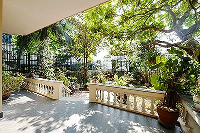 Garden 3-bedroom house to lease in Tay Ho-Westlake, unfurnished
