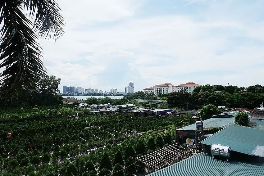 Garden unfurnished 05 bedroom house to let in Tay Ho with top floor terrace 18