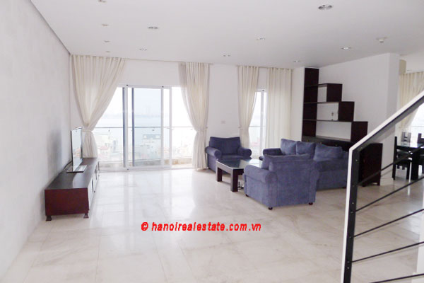 Golden West Lake Hanoi | Duplex Apartment has 250 m2 living area, large terrace for rent 1