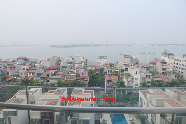 Golden West Lake Hanoi | Duplex Apartment has 250 m2 living area, large terrace for rent 14