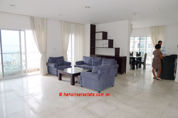 Golden West Lake Hanoi | Duplex Apartment has 250 m2 living area, large terrace for rent 2