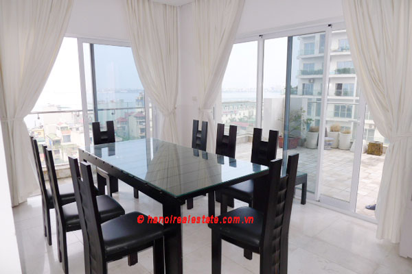 Golden West Lake Hanoi | Duplex Apartment has 250 m2 living area, large terrace for rent 4