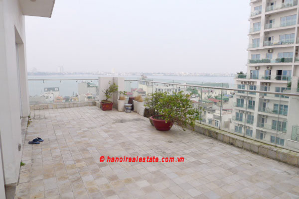 Golden West Lake Hanoi | Duplex Apartment has 250 m2 living area, large terrace for rent 5