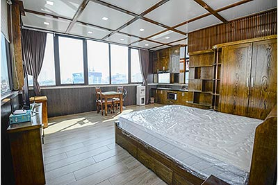 Gorgeous top floor studio apartment with city view on Tran Dang Ninh St