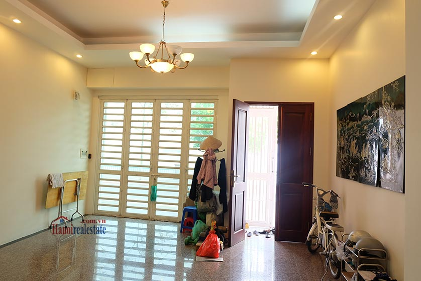 Lake front 04BRs house for rent at Nguyen Dinh Thi St, Ba Dinh District 2