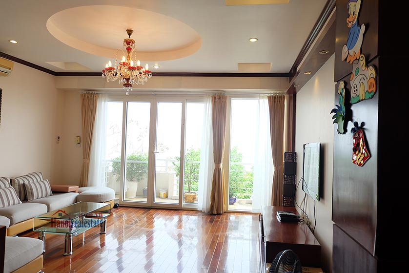 Lake front 04BRs house for rent at Nguyen Dinh Thi St, Ba Dinh District 3