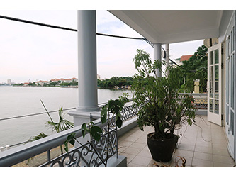 Lake Side House for Rent in Tay Ho Dist, large Balcony