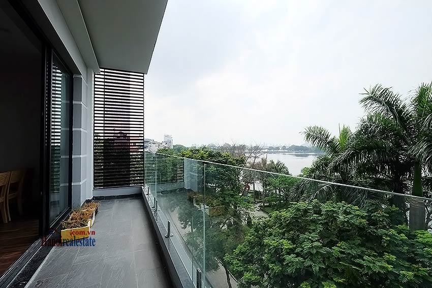 Lake view 2 bedroom apartment in Truc Bach, modern style & balcony 1