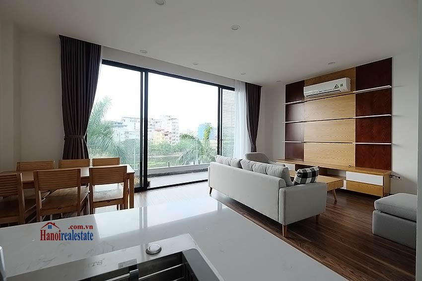 Lake view 2 bedroom apartment in Truc Bach, modern style & balcony 2
