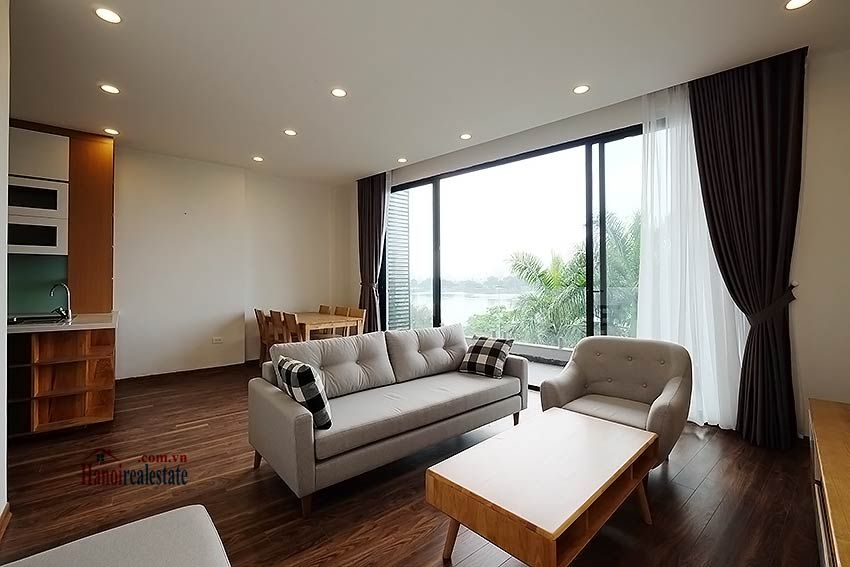 Lake view 2 bedroom apartment in Truc Bach, modern style & balcony 3
