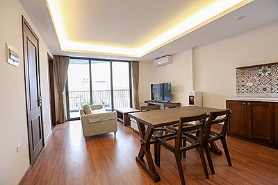Lake view 2-bedroom apartment with large balcony to rent in Tay Ho