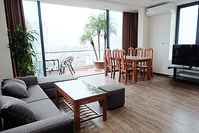 New Lakeview apartment for rent on To Ngoc Van, Tay Ho, 150m2, 2 beds