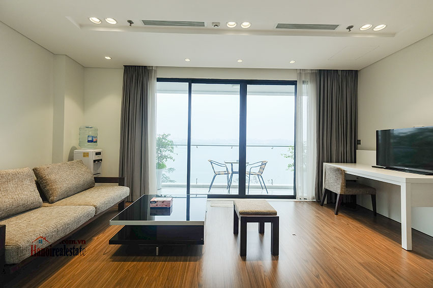Lake view apartment with 01BR in Yen Phu Village, nice balcony 12