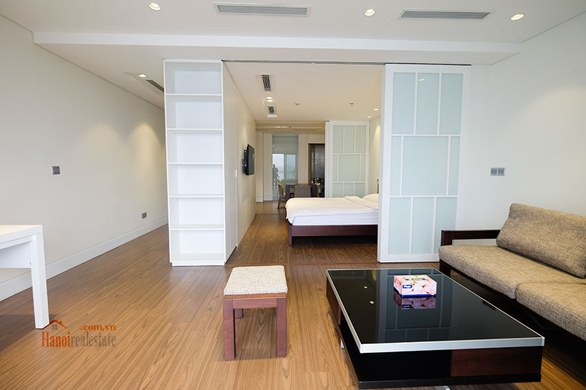 Lake view apartment with 01BR in Yen Phu Village, nice balcony 13