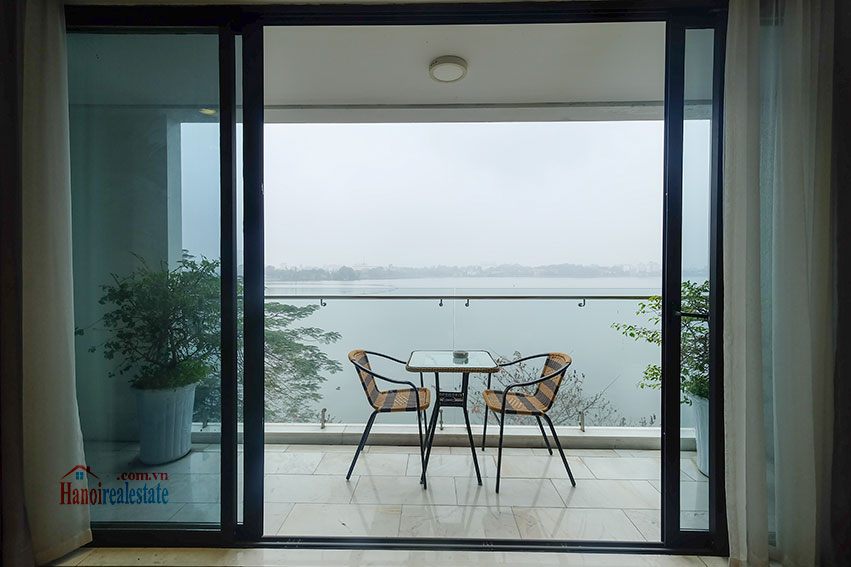 Lake view apartment with 01BR in Yen Phu Village, nice balcony 15