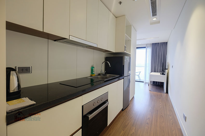 Lake view apartment with 01BR in Yen Phu Village, nice balcony 5
