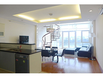 Lake View, Modern Furnished Penthouse for rent in Truc Bach,