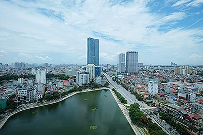 Lakeview apartment with 02 bedrooms in Ngoc Khanh Plaza, Pham Huy Thong street