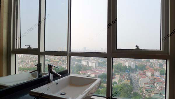 Lancaster Hanoi furnished apartment for rent on high floor, 3 bedrooms 15