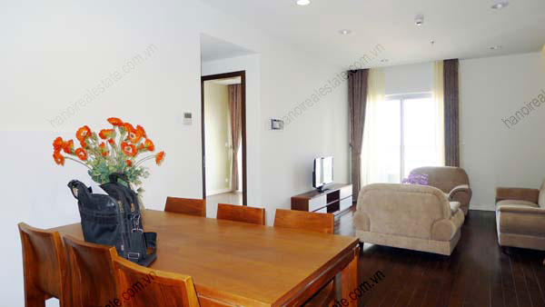 Lancaster Hanoi furnished apartment for rent on high floor, 3 bedrooms 2