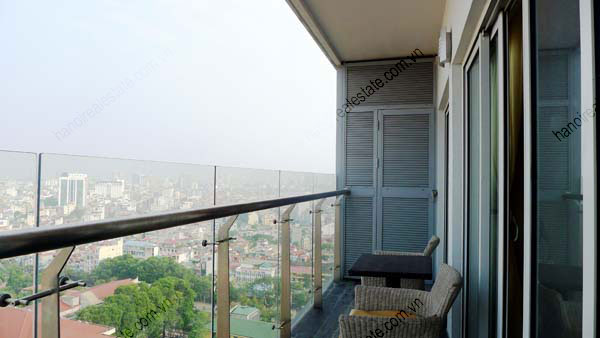 Lancaster Hanoi furnished apartment for rent on high floor, 3 bedrooms 3