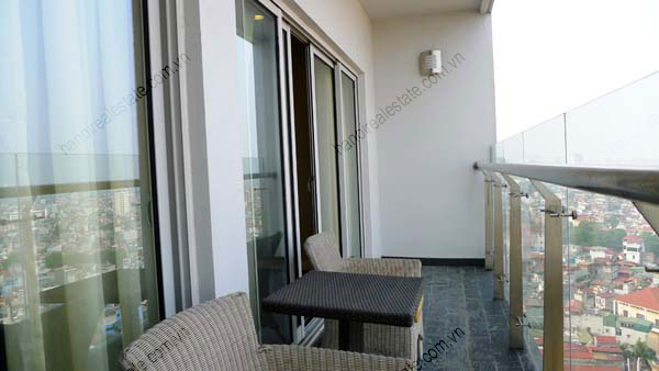 Lancaster Hanoi furnished apartment for rent on high floor, 3 bedrooms 4
