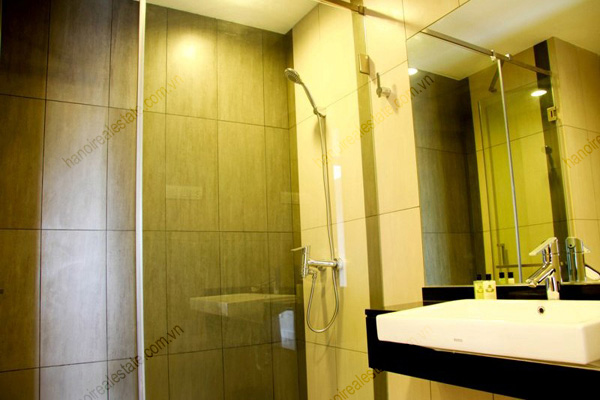 Serviced apartment at Lancaster Hanoi  offer luxury bathroom