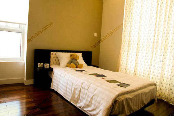 Serviced apartment at Lancaster Hanoi with bright and nice view bedroom