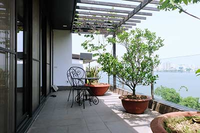 Large Balcony, Lake view apartment in Xom Chua, Tay Ho (Quang Khanh street)