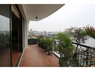 Large Balcony, Lake view Apartment on high floor in Truc Bach Hanoi