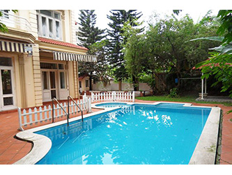 Large garden, out-door Pool Villa with spacious Living room in Tay Ho