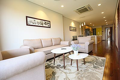 Large space 02 bedroom apartment on Xuan Dieu, great view