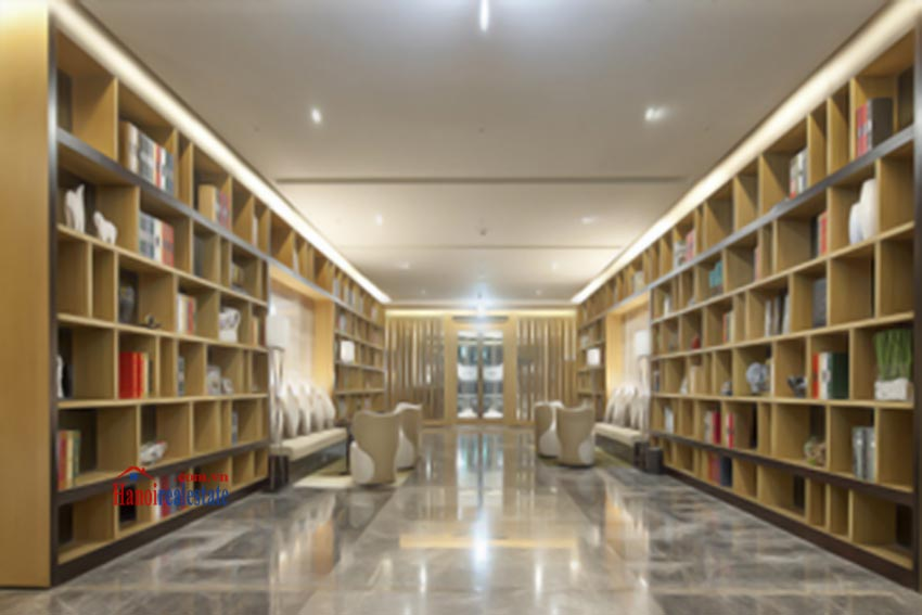 Lotte Hanoi - Serviced Apartments for rent: library